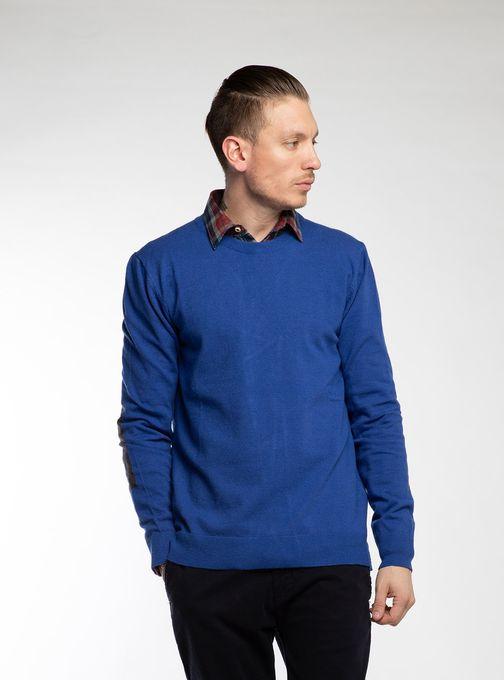 Sweater-Cuello-O-Con-Coderas-Azul