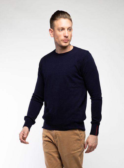 Sweater-Cuello-Redondo-Sin-Coderas-Azul