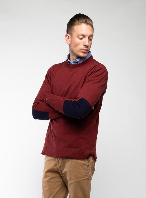 Sweater-Cuello-O-Con-Coderas-Rojo