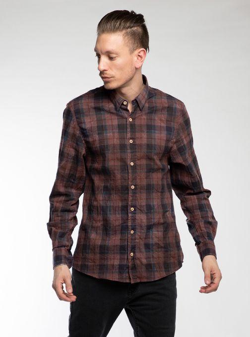 Camisa-Batik-Manga-Larga-Escoces