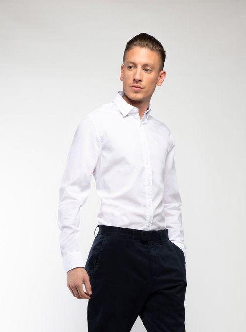 Camisa-Poplin-Lisa-Manga-Larga-Blanco