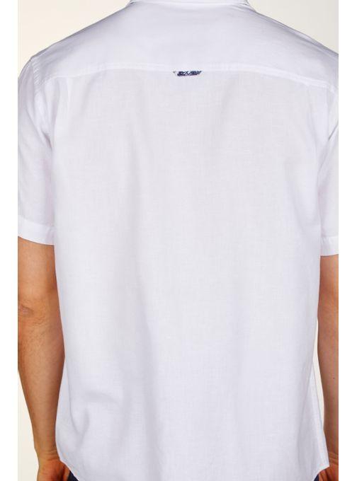 Camisa-Lino-Lisa-Manga-Corta