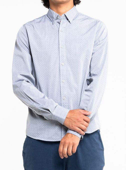 Camisa-Estampada-Dot-Manga-Larga