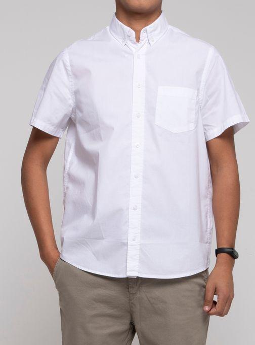 Camisa-Lisa-Soft-Manga-Corta-Blanco