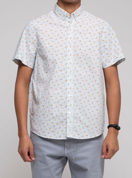 Camisa-Estampada-Manga-Corta-Celeste